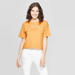 Short Sleeve Sunkissed Cropped Graphic T-Shirt